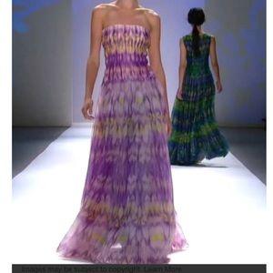 💜💚Tadashi Shoji Purple and Electric lime dress